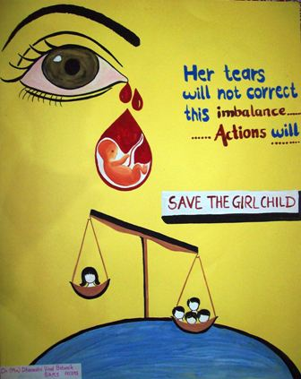 Art And Colours In Life Save The Girl Child