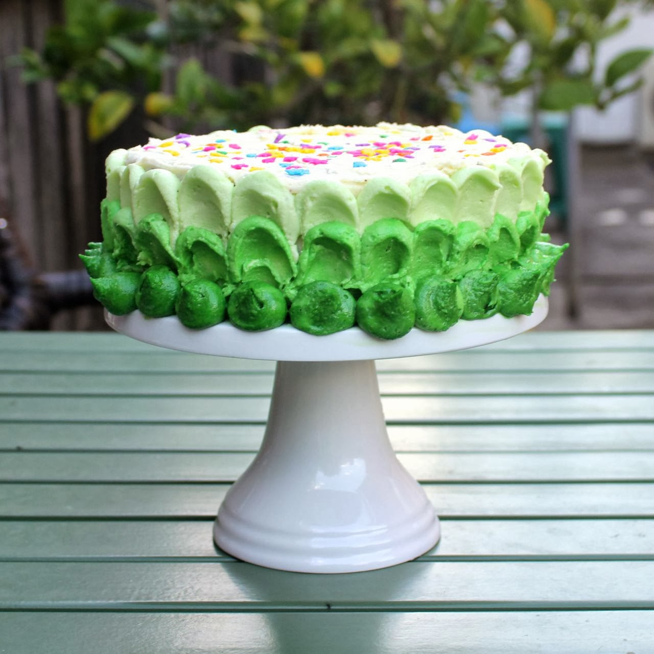 Green Gourmet Giraffe Ultimate Chocolate Cake With Green Ombre Frosting
