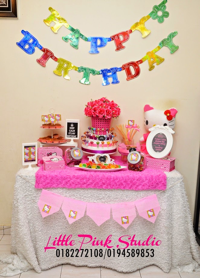 DIY Wedding Rental Candy Buffet Birthday Tema Hello Kitty