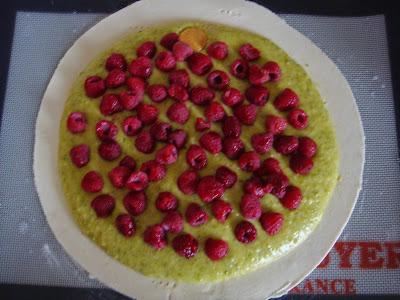 galette pistache framboise