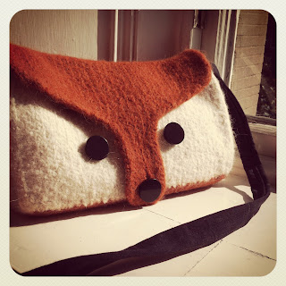 Felted Fox Knitted Bag @owlprintpanda.blogspot.co.uk