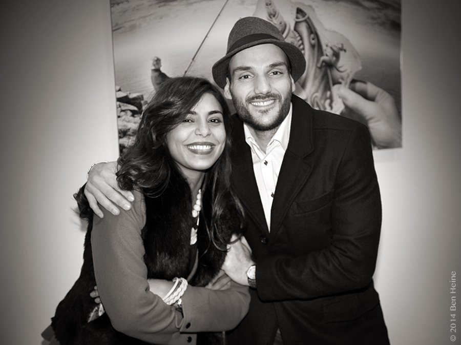 Najwa Borro and Artist Ben Heine - Exhibition at DCA Gallery - Belgium - 2014