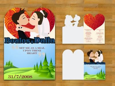 Contoh Undangan Pernikahan Tema Kartun