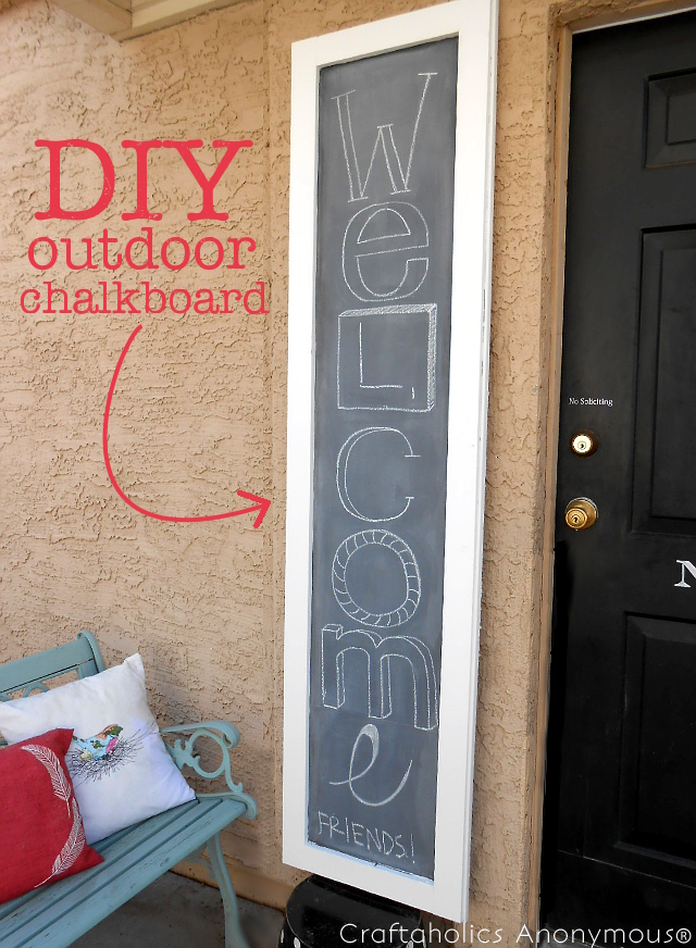 Outdoor Chalkboard project for Craftaholics Anonymous® by my3monsters.com.