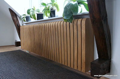 A oak radiator cover