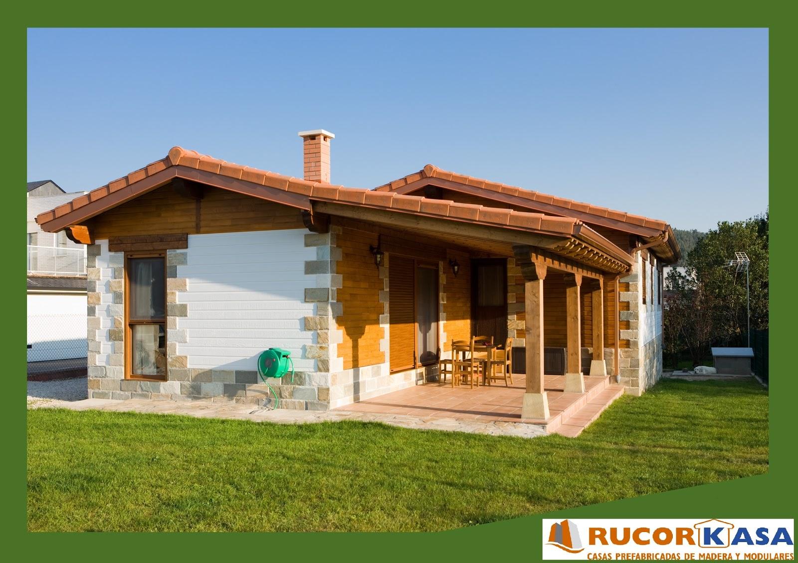 Viviendas prefabricadas rucorkasa hogares de madera - Casas prefabricadas de piedra ...