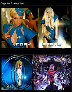 info 5 stars - lady gaga copy britney spears