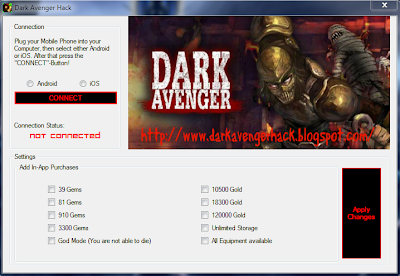 Dark Avenger Free Gem Gems Cheat Hack Gold Unlimited Equipment Unlimited Storage Hack Tool June 2013 android iphone ios apk