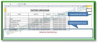 Print Area pada MS Excel 2010