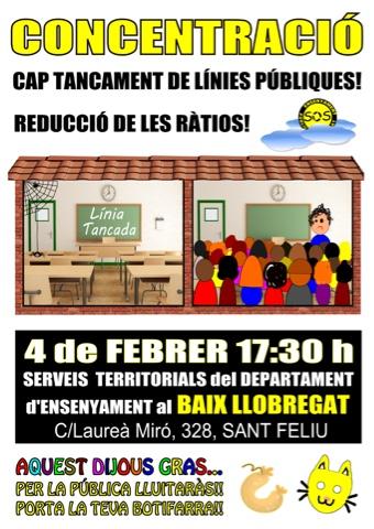 Concentració 4 de febrer Serveis Territorials
