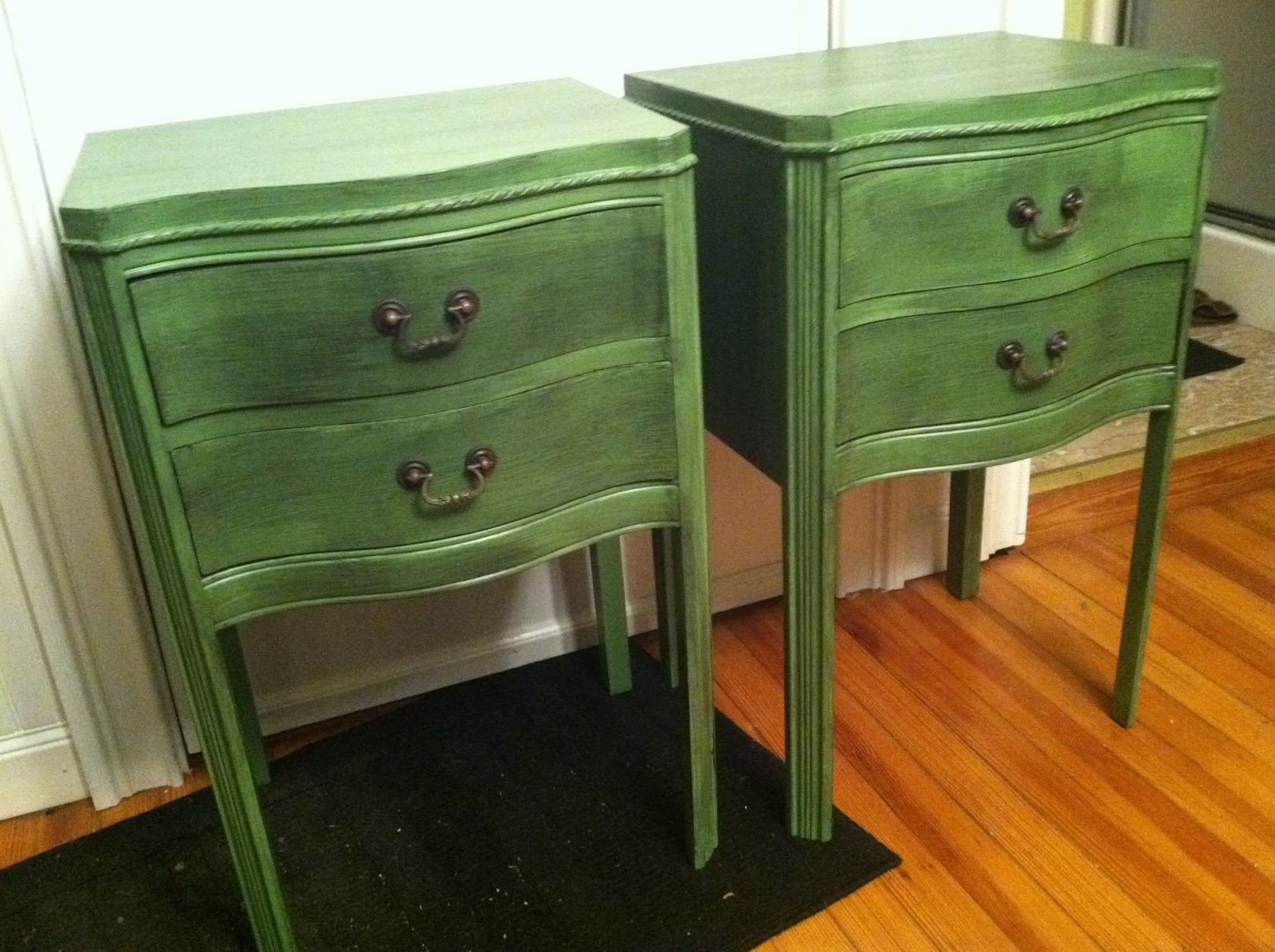 The Blessed Nest Stunning Set of Antique Nightstands For Sale