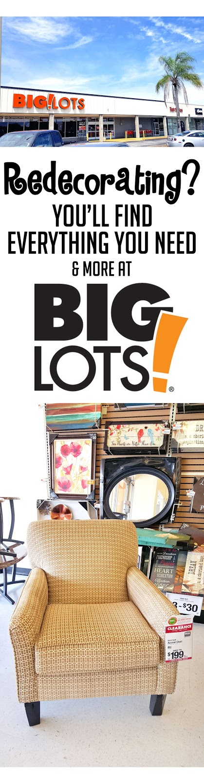 Check out how you can redecorate your place with one quick shop at Big Lots! This living room is so cute,  I can't even...