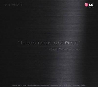 Bocoran Undangan, LG Akan Rilis LG G3 di 27-28 Mei 2014?