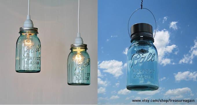 Blue mason jars be inspired for Why are mason jars called mason jars