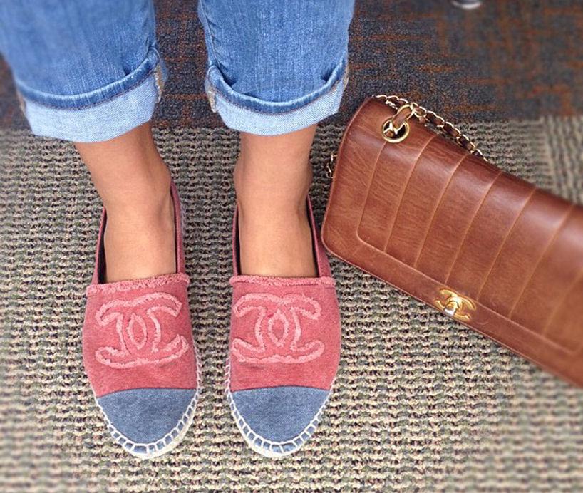 chanel shoes bag