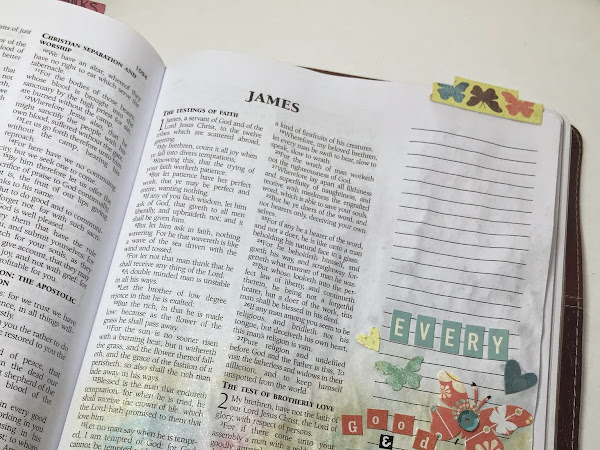 ABC Bible Journaling Community Challenge 3 | James 1:17