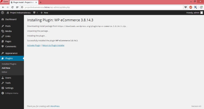 Panduan Menggunakan Pugin Wp eCommerce Unruk Membuat Toko Online di Wordpres 3