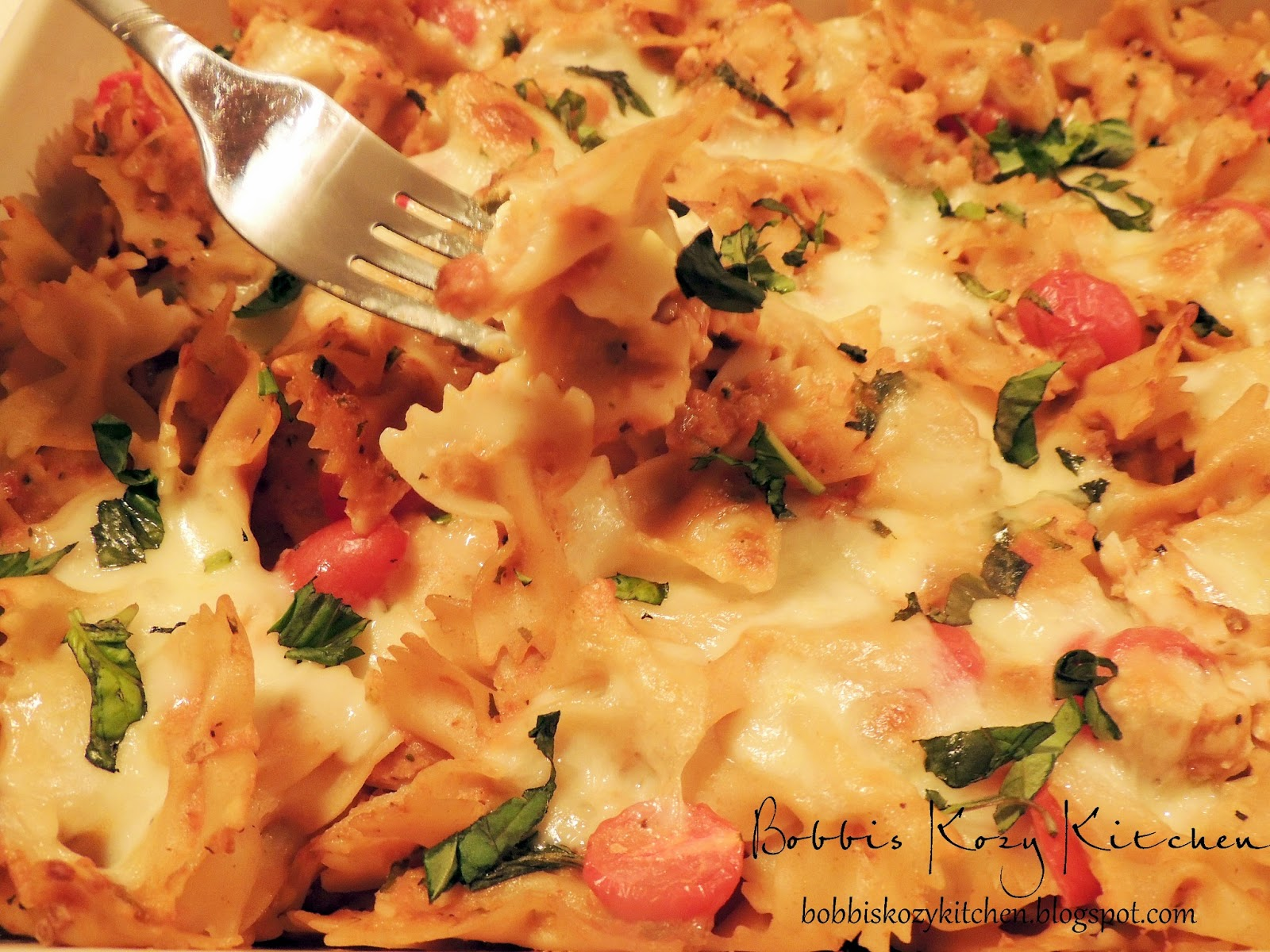Chicken Caprese Pasta | Bobbi's Kozy Kitchen