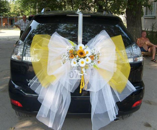 Wedding collections wedding car decorations for Automobile decoration