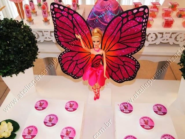 decoracao de festa provençal barbie butterfly