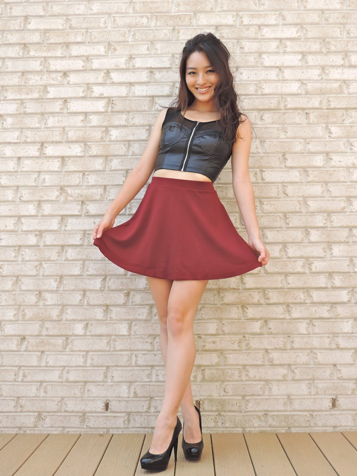 sensible stylista how to wear a skater skirt