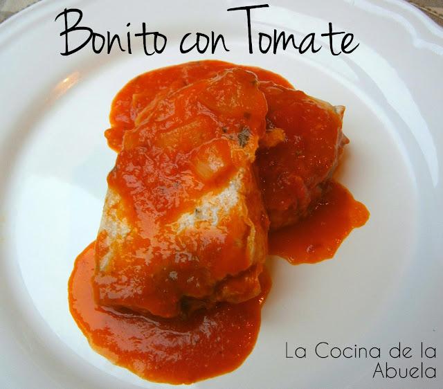 Bonito con tomate tradicional.