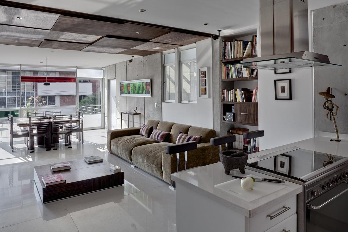 Casa detalles loft cholula - Cocina comedor integrados ...