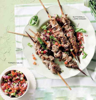 Buttermilk Lamb Kebabs With Tomato Salsa