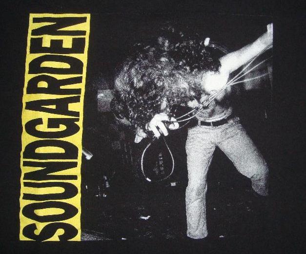(SOLD) Soundgarden - Louder Than Love shirt (repro ...