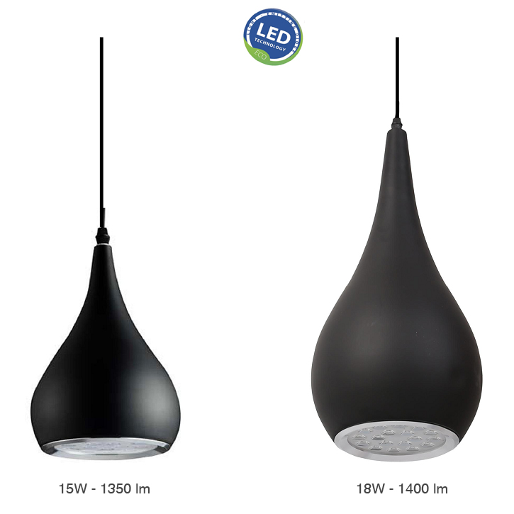 lampara LED suspension barata blanco negro