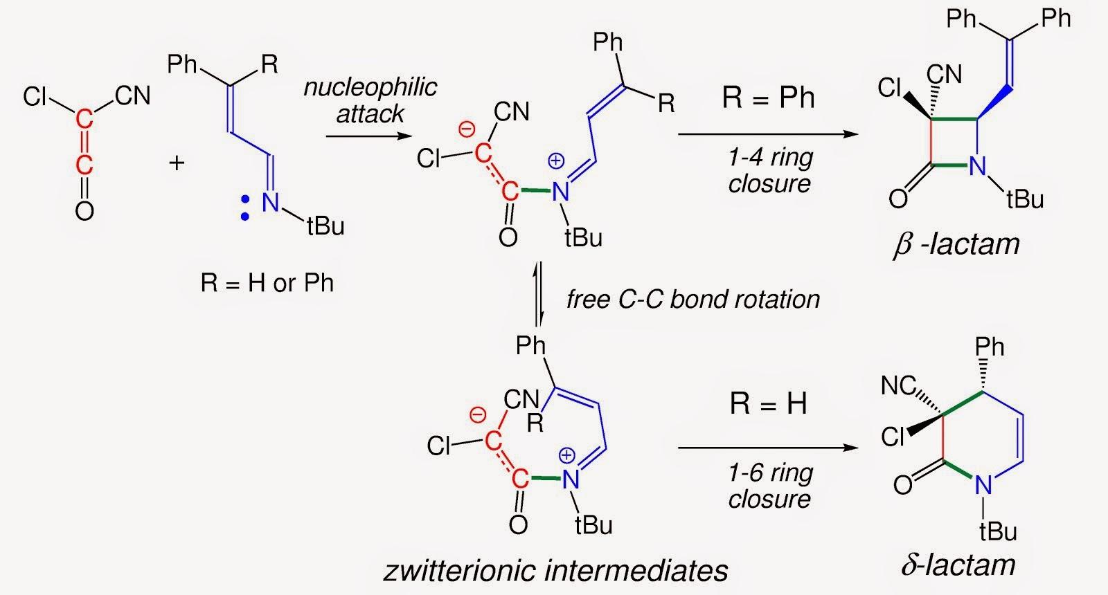 d-lactams vs b-lactams in Saudinger reactions