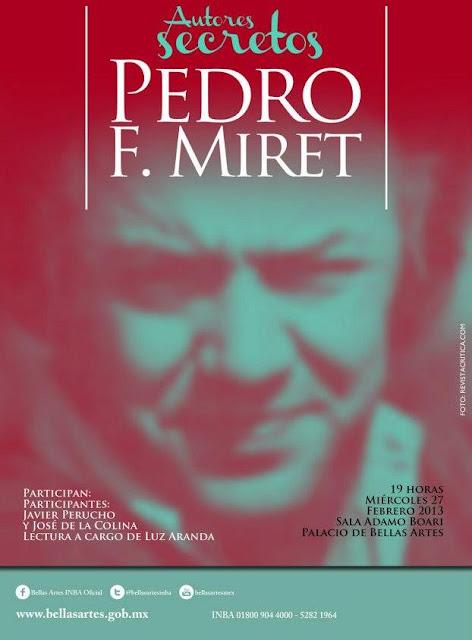 """Ciclo """"Autores secretos: Pedro F. Miret"""" en el Palacio de Bellas Artes"""