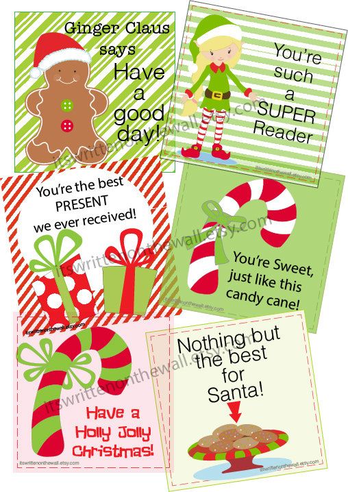 Lunchbox Notes for December-Use as Gift Tags too.