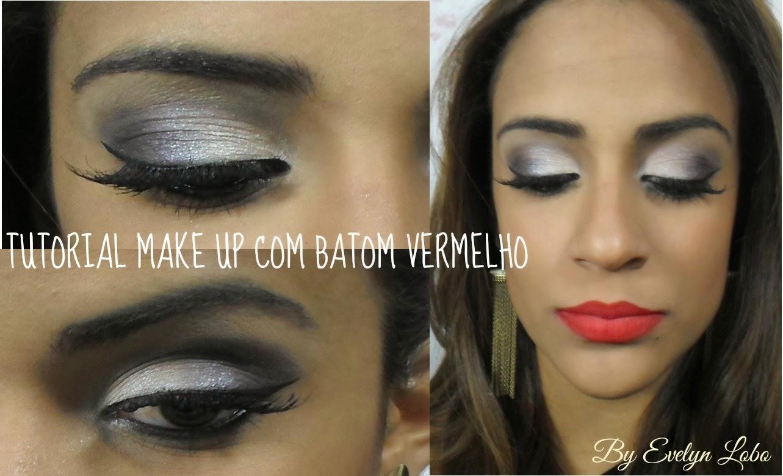make up batom vermelho