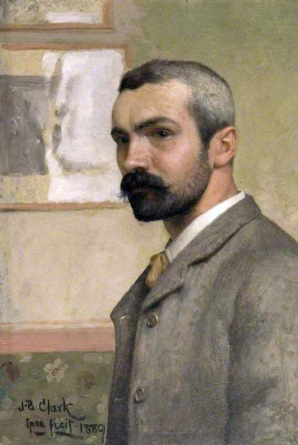 Joseph Benwell Clark, Self Portrait, Portraits of Painters