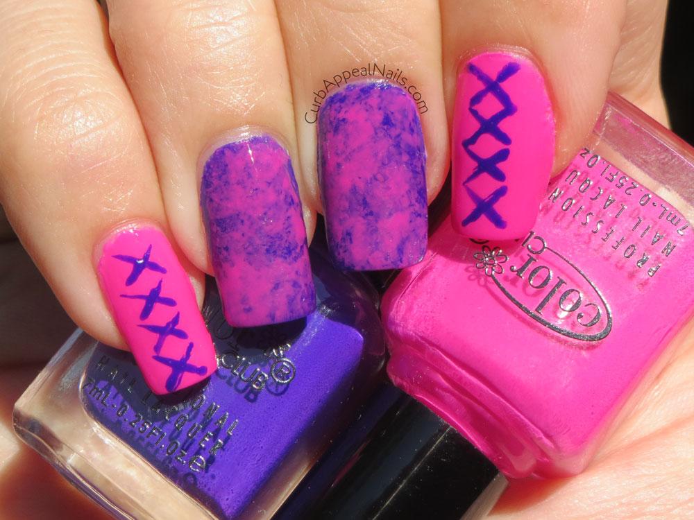 Curb Appeal Nails | Nail Art + Polish Blog: Neon Nail Art with Color ...