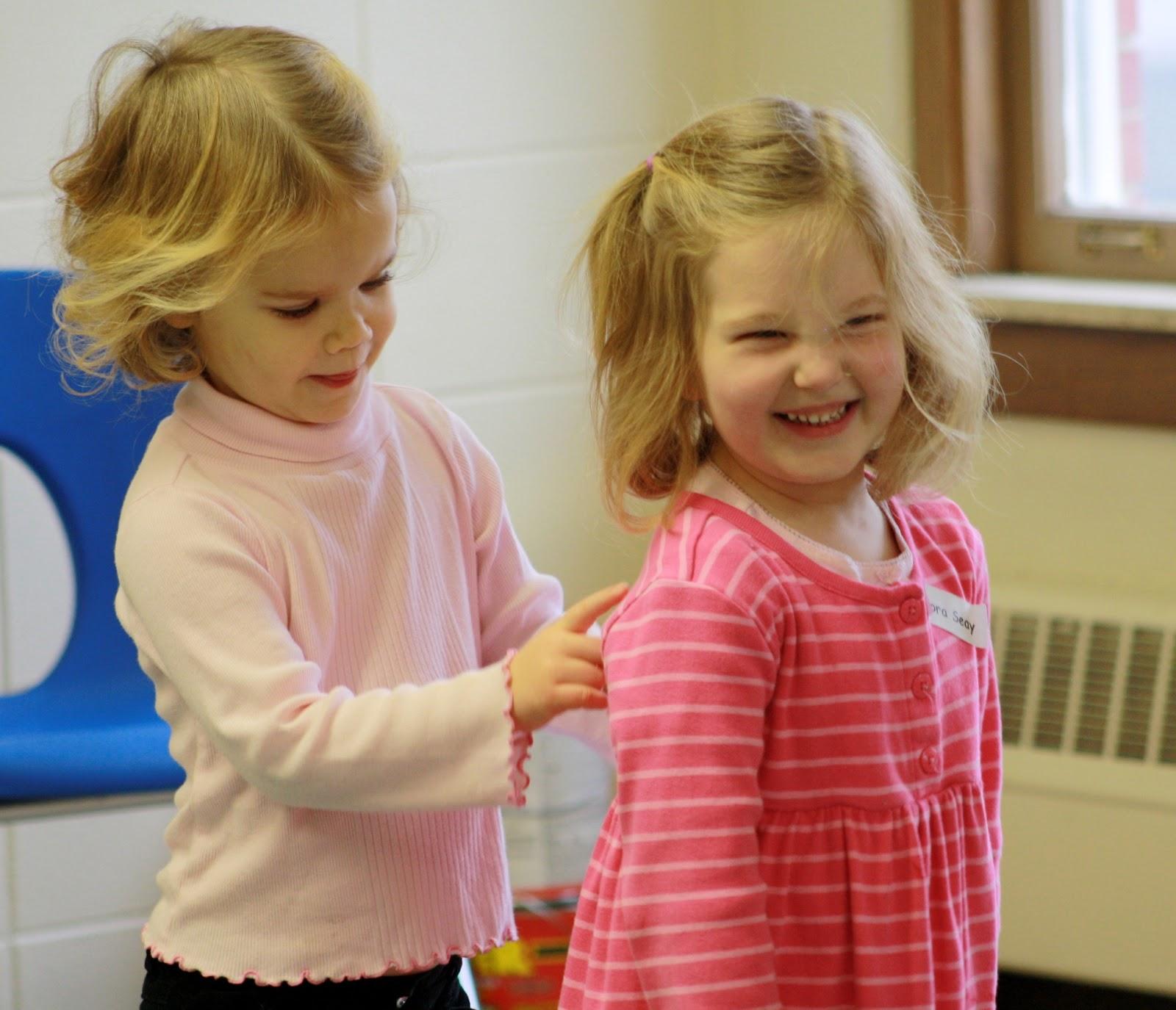 Children Using Gentle Touches