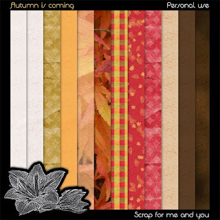 "Free scrapbook ""Autmn is coming"" from ""Scrap for you and me"""