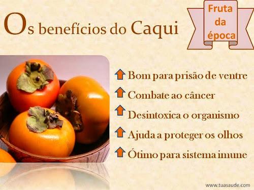 Caqui fruta da época e seus benefícios