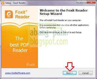 cara instal foxit reader terbaru