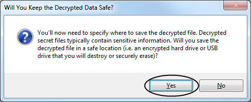 Will you keep the data safe?