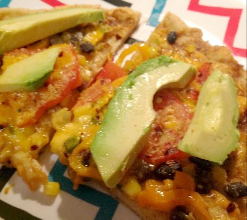 gluten free mexican veggie pizza