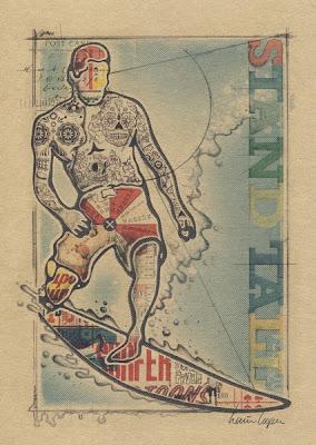 Surf Art, Surf Print, Vintage Surf Art, Surf Poster, Retro Surf Art