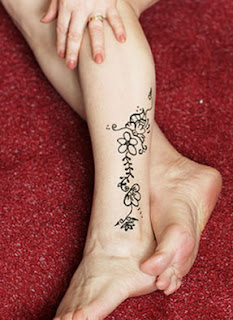 henna tattoo designs for foot
