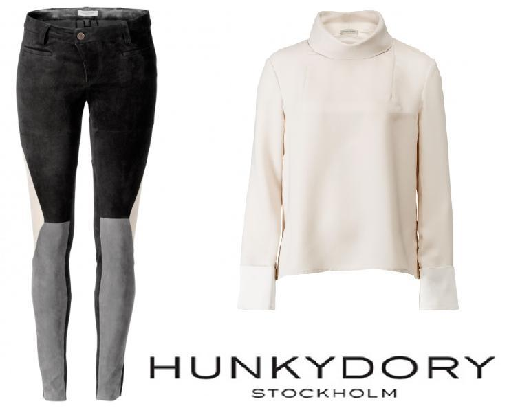Sofia Hellqvist HUNKYDORY Portcullis Suede Trousers + Wenlock Blouse