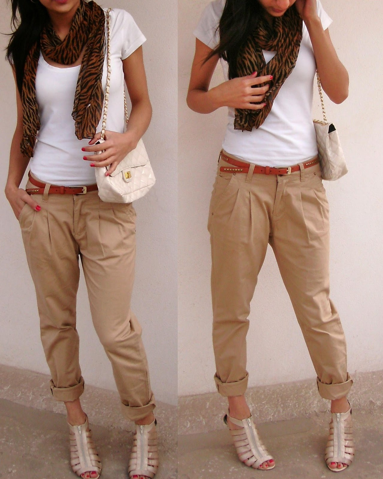 Khaki clothing for women