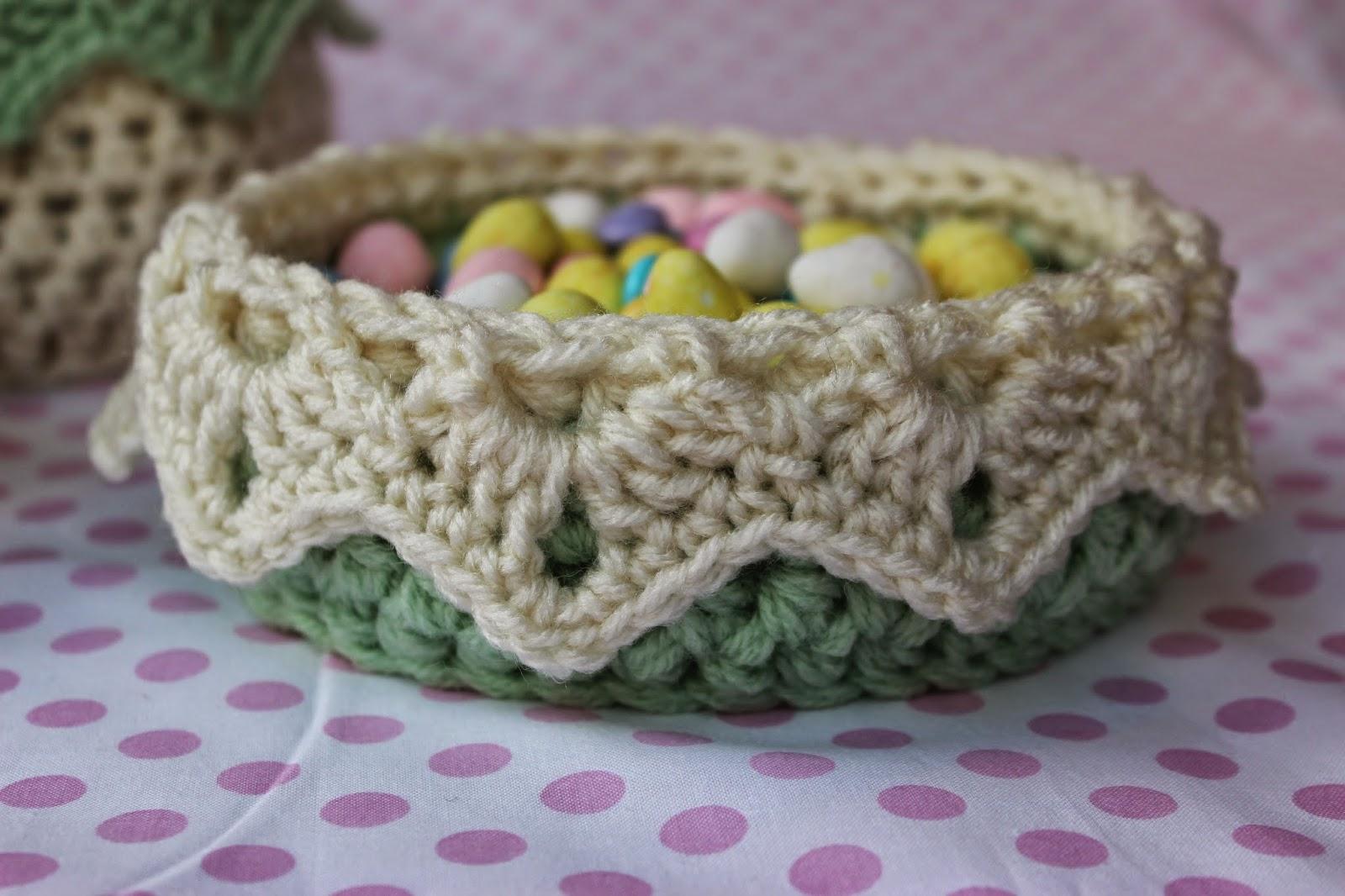 Free Crochet Flower Basket Pattern : Krissys wonders free crochet pattern for a flower basket