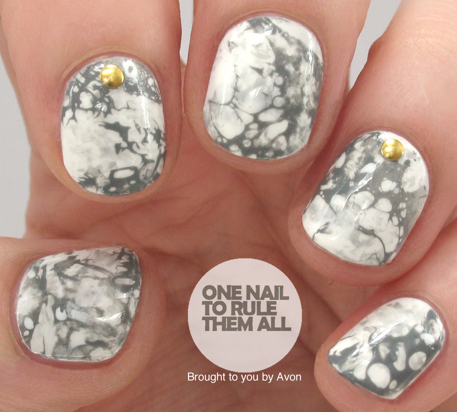 One Nail To Rule Them All: Stone Marble Nail Art for Avon