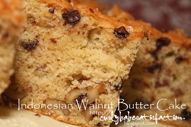 Indonesian Walnut Butter Cake Recipe