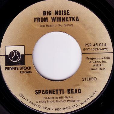 Spaghetti Head Big Noise From WinnetkaFunky Axe